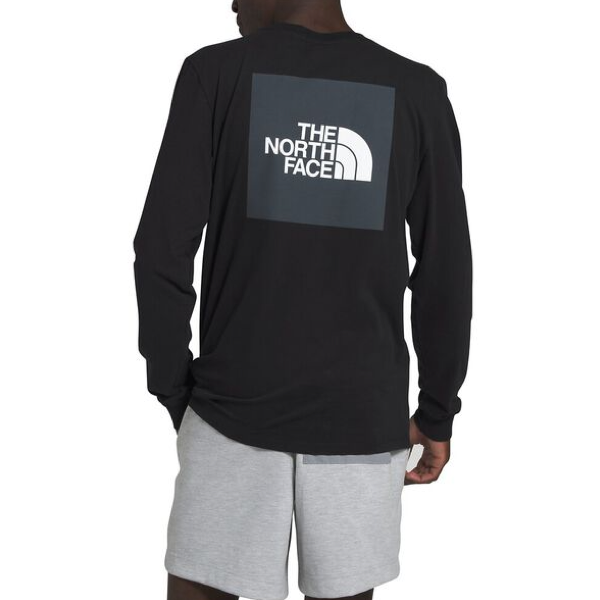 MEN'S LONG-SLEEVE RED BOX TEE TNF BLACK