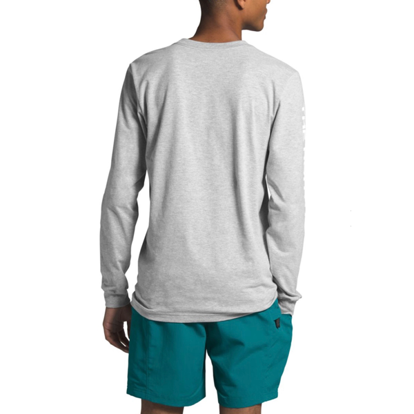 MEN'S LONG-SLEEVE TNF™ SLEEVE HIT TEE  TNF FLIGHT GREY HEATHER