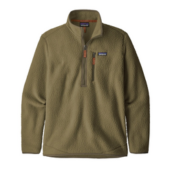 Men's Retro Pile Pull Over Sage Khaki