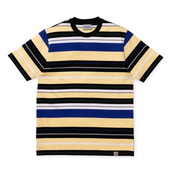 S/S FLINT T-SHIRT  FLINT STRIPE PALE YELLOW