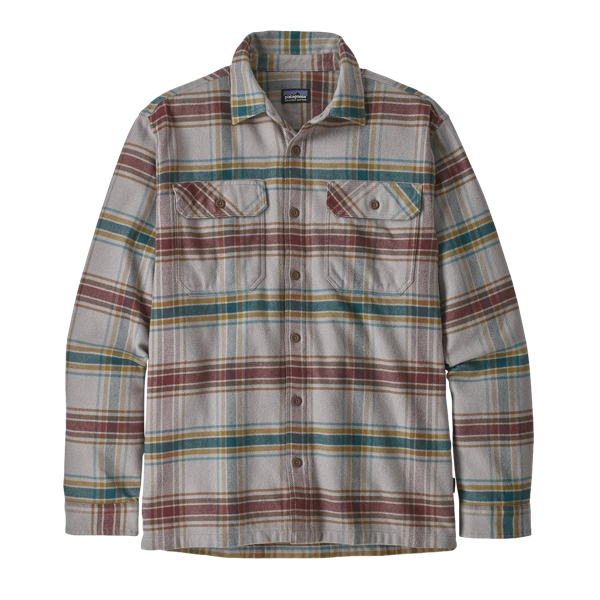 Men's Long Sleeve Fjord Flannel Shirt Defender Feather Grey