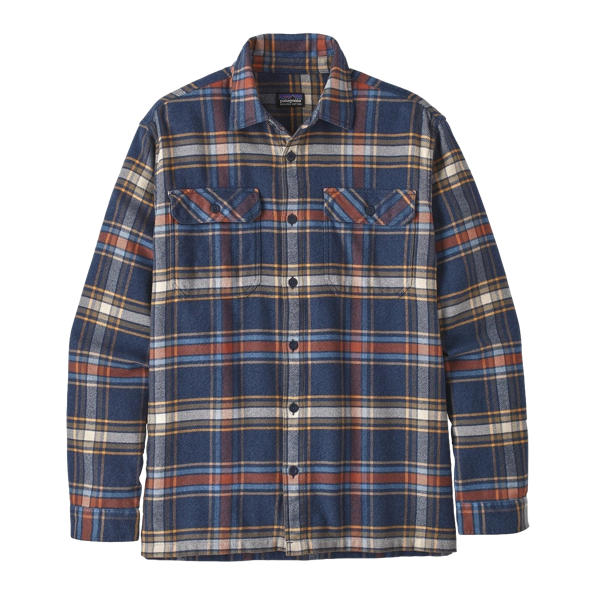 Men's Long Sleeve Fjord Flannel Shirt Defender New Navy