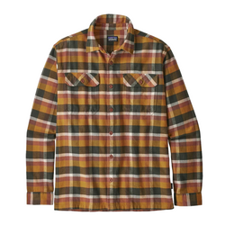 Men's Long Sleeve Fjord Flannel Shirt  Observer Wren Gold