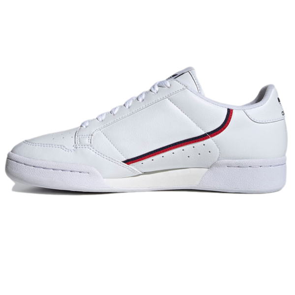 CONTINENTAL 80 VEGAN SHOES Cloud White / Collegiate Navy / Scarlet