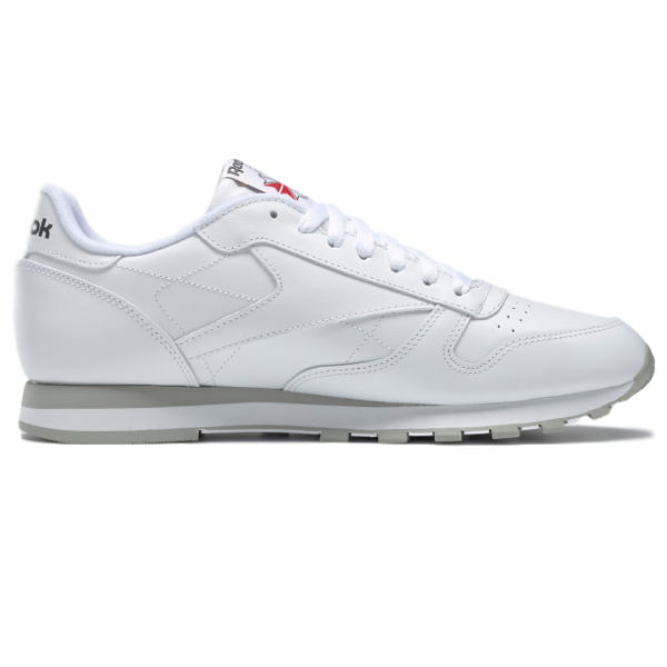 CLASSIC LEATHER SHOES INTENSE WHITE / LIGHT GREY