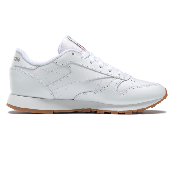 CLASSIC LEATHER SHOES INTENSE WHITE / GUM