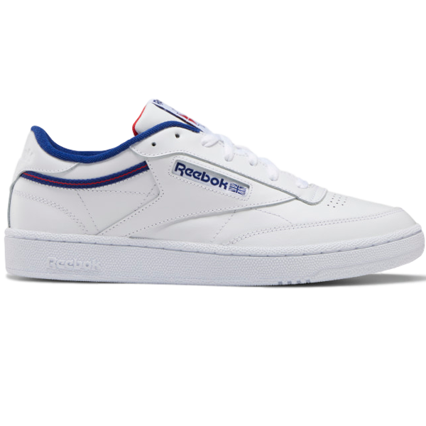 CLUB C 85 SHOES WHITE / DEEP COBALT / VECTOR RED