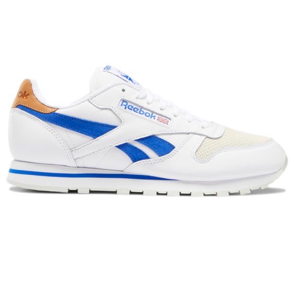 CLASSIC LEATHER SHOES White / Court Blue / Morning Fog