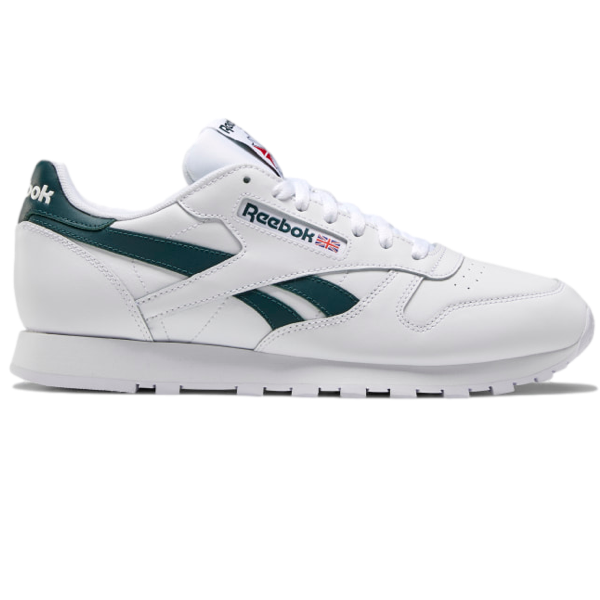 CLASSIC LEATHER SHOES White / Forest Green / Vector Red