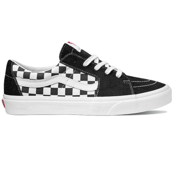 SK8-LOW BLACK Black/Checkerboard