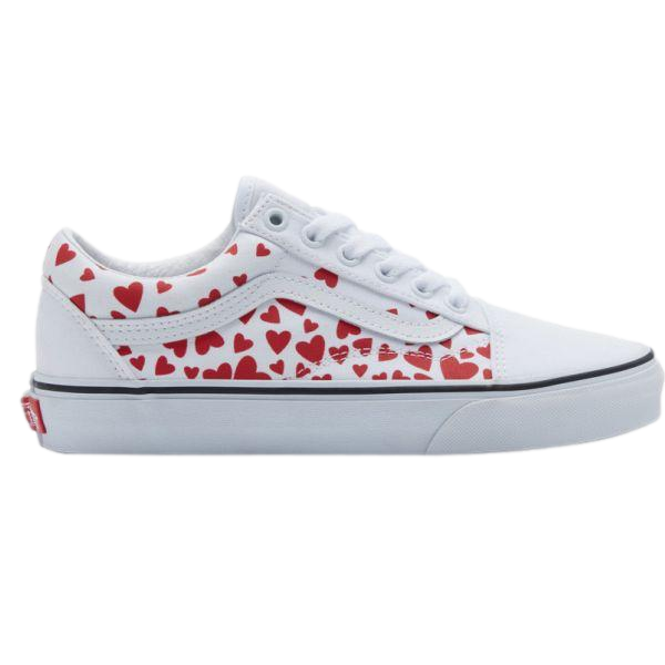OLD SKOOL VANS VALENTINE'S DAY RED HEARTS