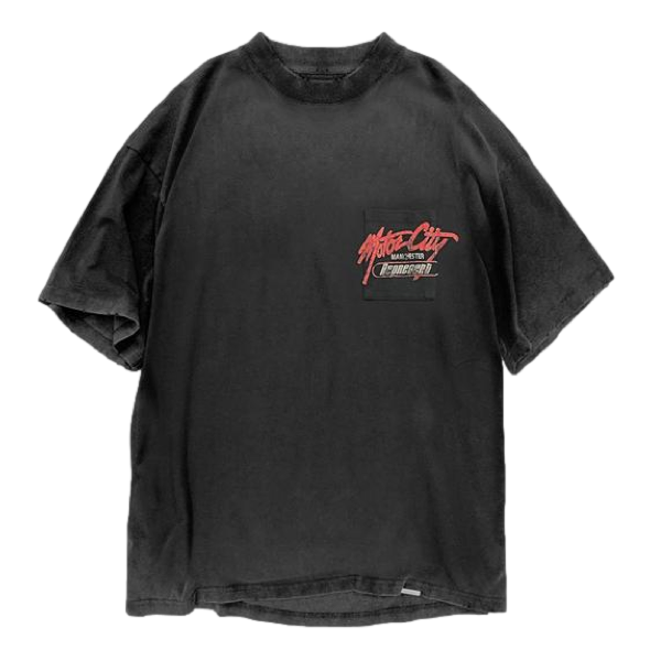 MOTOR CITY POCKET T-SHIRT - VINTAGE BLACK