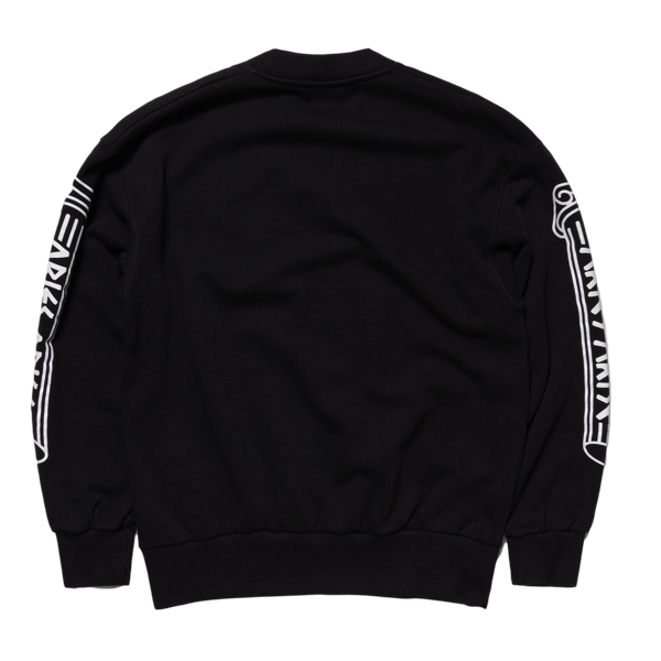 Greek Column Sweatshirt Black
