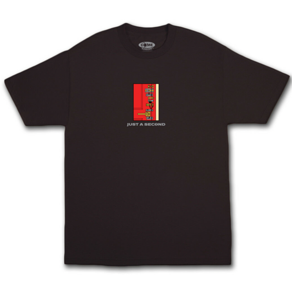 LOCKED EMBROIDERY S/S BLACK