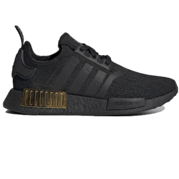 ADIDAS WOMENS NMD_R1 - BLACK / BLACK / GOLD METALLIC