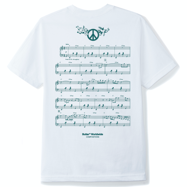 Peace Piece Tee White