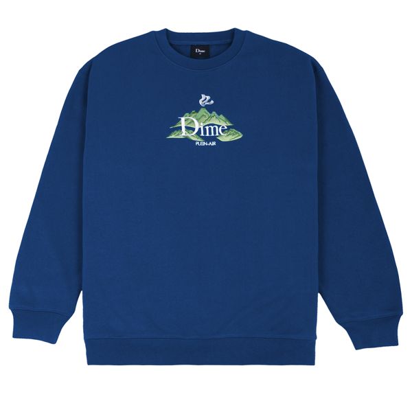 DIME PLEIN AIR CREWNECK NAVY