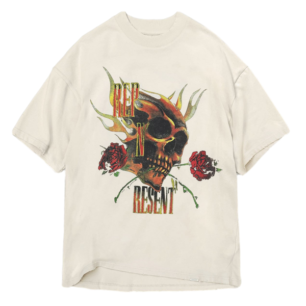 REP N RESENT T-SHIRT - VINTAGE WHITE
