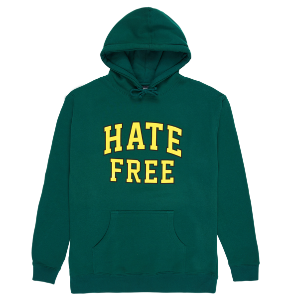 HATE FREE HOODY FOREST GREEN