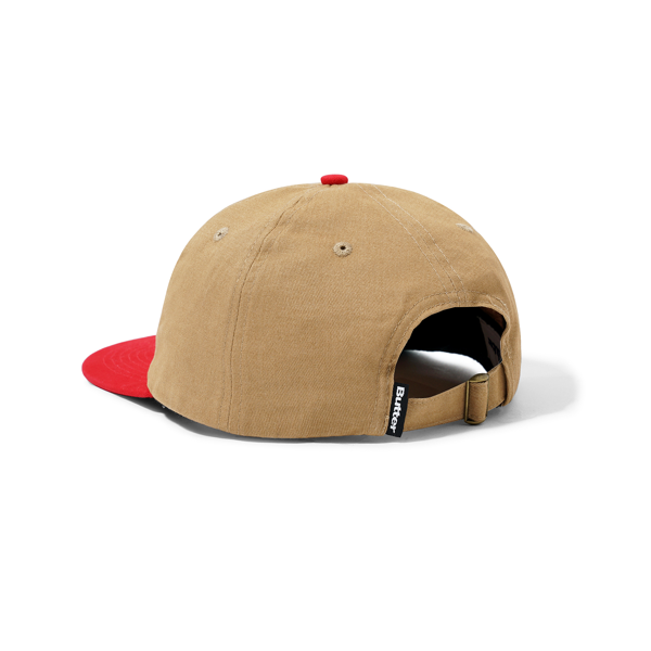 Sax 6 Panel Cap Natural / Cherry