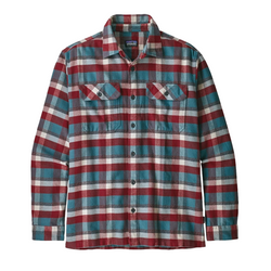Men's Long Sleeve Fjord Flannel Shirt Observer Tasmanian Teal