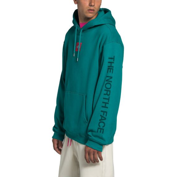 MEN'S BOX DROP PULLOVER HOODIE FANFARE GREEN