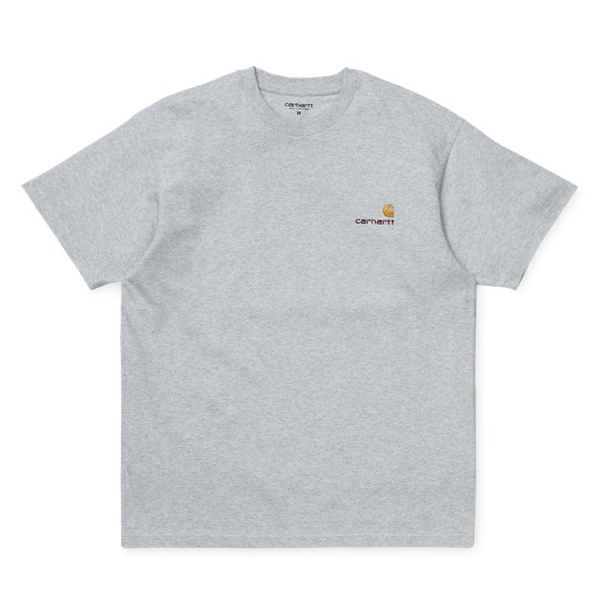 S/S American Script T-Shirt Ash Heather