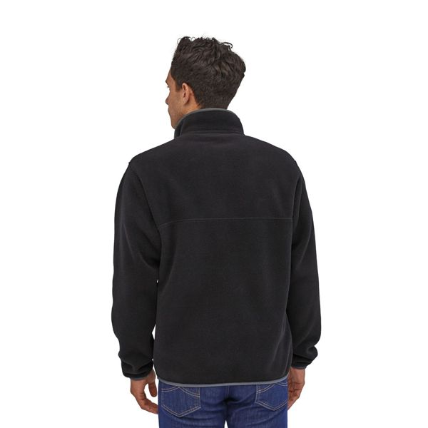 Patagonia Men's Light Weight Synch Snap-T Pull Over Black w/Forge Grey