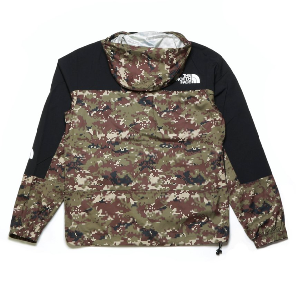 THE NORTH FACE PERIL WIND JACKET  BURNT OLIVE GREEN UX DIGI CAMO  PRINT
