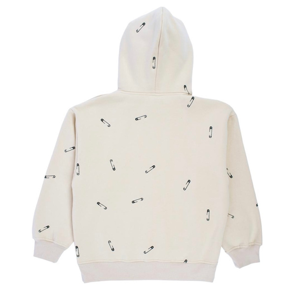 SAFETY EMBROIDERED HOODY - CREME
