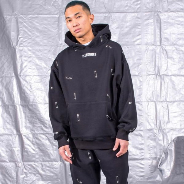 SAFETY EMBROIDERED HOODY BLACK