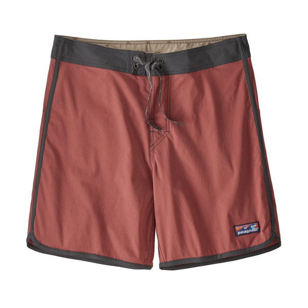 Men's Scallop Hem Stretch Wavefarer Boardshort 18 In.  Spanish Red