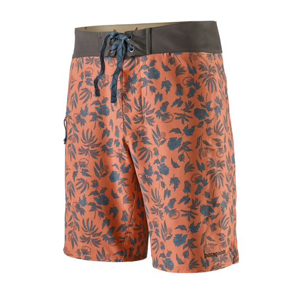 Men's Stretch Planing Boardshorts - 19 In. - Fiber Flora: Mellow Melon