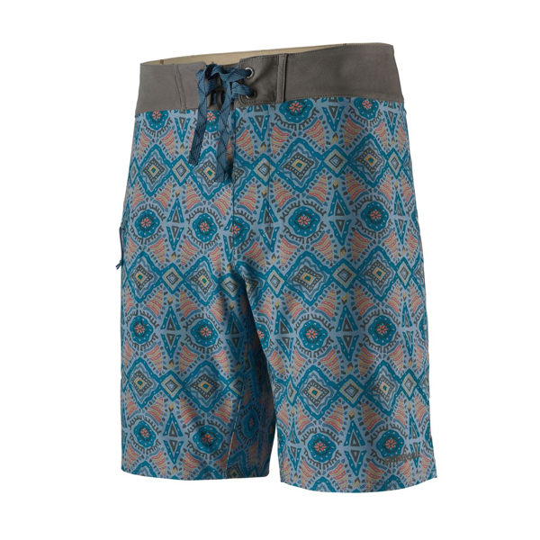 Men's Stretch Planing Boardshorts - 19 In. - Honeycomb Small: Berlin Blue