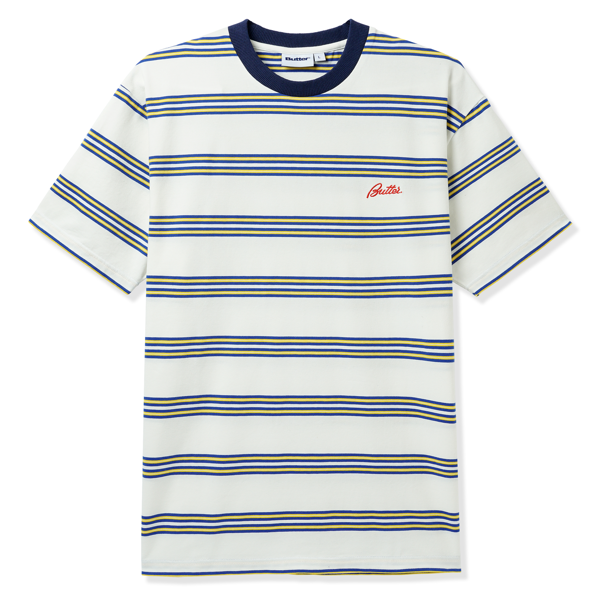 Market Stripe Tee White / Yellow / Royal