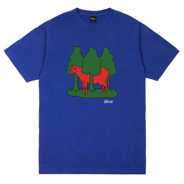 FOREST COW T-SHIRT ROYAL BLUE