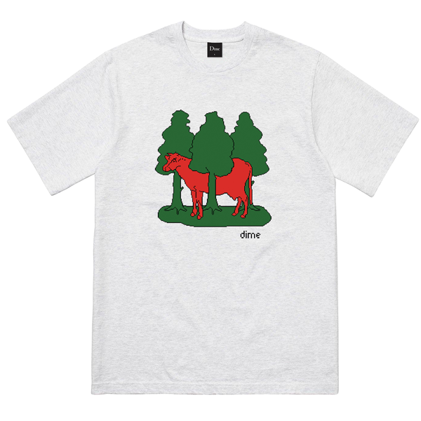 FOREST COW T-SHIRT ASH