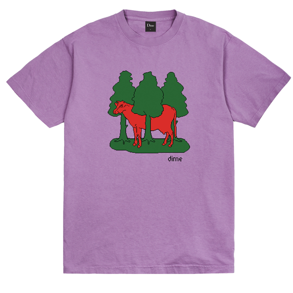FOREST COW T-SHIRT LAVENDER