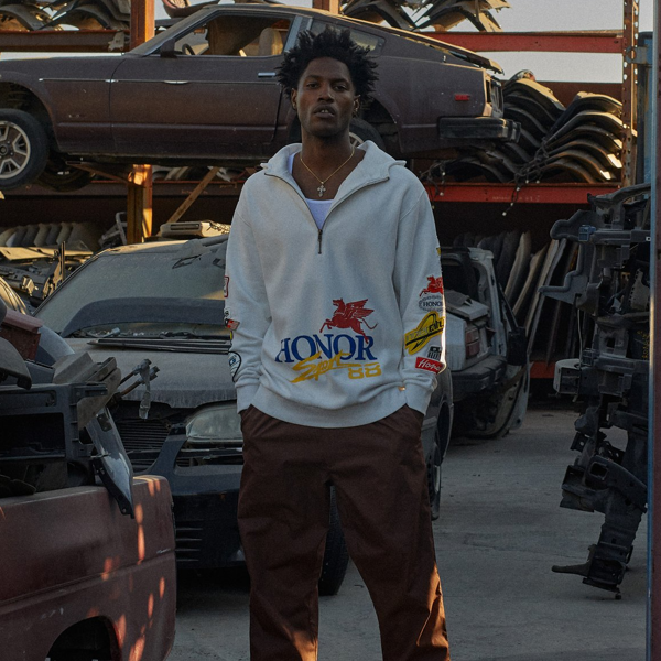 Honor Decal Hoodie -  Off White