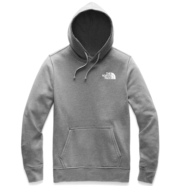 RED BOX PULLOVER HOODIE MEDIUM HEATHER GREY/  TNF RED