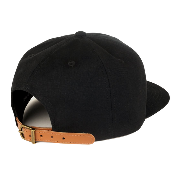 WORLD LADY 5 PANEL CAP BLACK