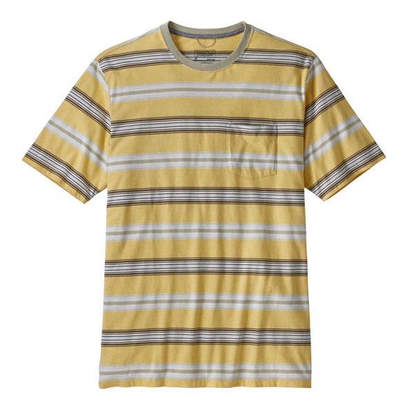 Squeaky Clean Pocket Tee Tarkine stripe surfboard yellow/weathered stone