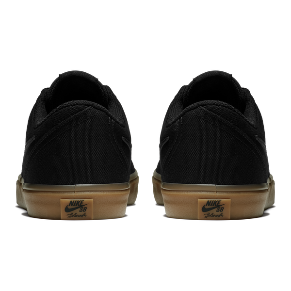 CHECK SOLAR CNVS  BLACK/BLACK-GUM LIGHT BROWN 009