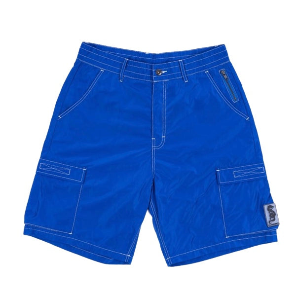 STATIC NYLON CARGO SHORTS ROYAL BLUE