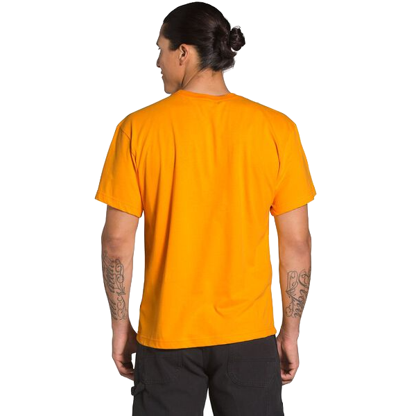 MENS S/S BRAND STAND T SUMMIT GOLD/CLEAR LAKE BLUE