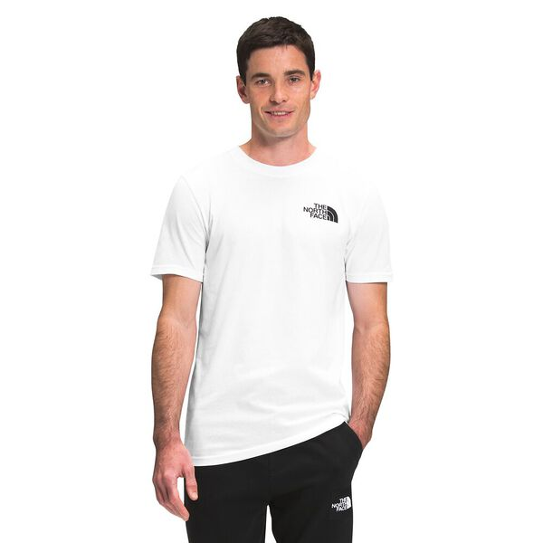MENS S/S BOX NSE TEE TNF WHITE/TNF RED