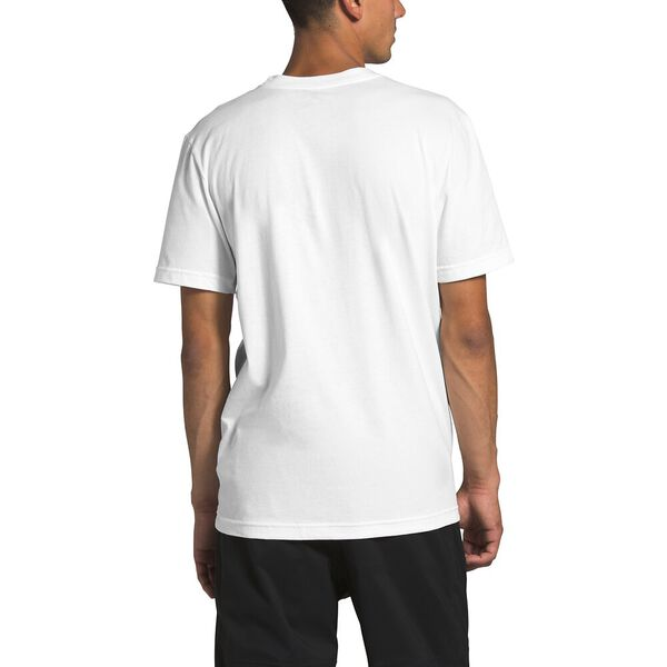 MENS SS NEW BOX TEE TNF WHITE/FANFARE GREEN