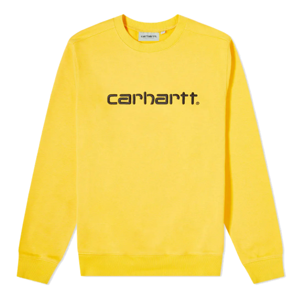 WOMENS CARHARTT SWEAT SUNFLOWER/BLACK