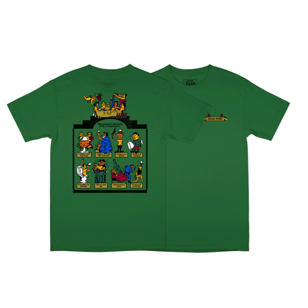 TRICKLE DOWN TEE KELLY GREEN