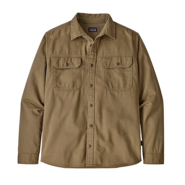 Men's Long Sleeve Four Canyons Twill Shirt Mojave Khaki